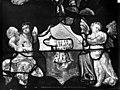 Eglise Saint-Martin - Vitrail, baie 4 (détail), Angelots aux pieds du pape Adrien VI - Montmorency - Médiathèque de l'architecture et du patrimoine - APMH00005406.jpg