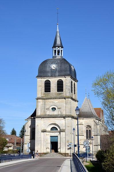 Church Saint-Quentin in Dienville , Aube, France
