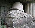 Ehemalige Gedenkstätte am Pfarrberg für die Gefallenen des I. Weltkrieges - Stahlhelm auf Eichenlaubkranz - Meinhard-Grebendorf - panoramio.jpg