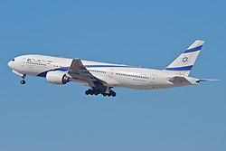 El Al Boeing 777-258ER; 4X-ECA@LAX;11.10.2011 623lp (6905391282).jpg