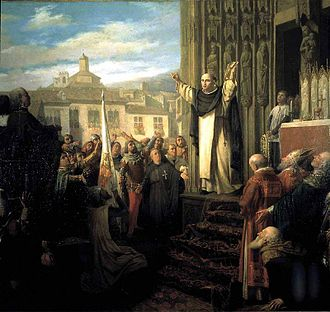 Compromise of Caspe - Proclamation of Ferdinand I as king of Aragon, by Dióscoro Puebla