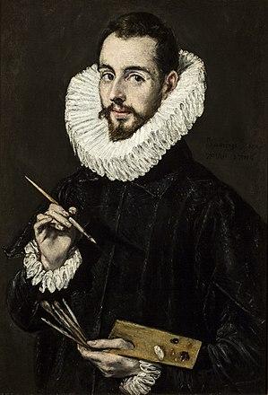 Posthumous fame of El Greco - Portrait of Jorge Manuel Theotocopoulos (1600-1605, oil on canvas, 81 x 56 cm, Museo Provincial de Bellas Artes, Seville)