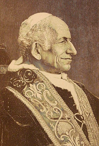 Woodcut of Pope Leo XIII
