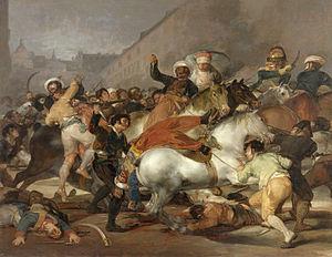 Peninsular War - Image: El dos de mayo de 1808 en Madrid rdit