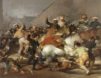 Peninsular War - The Second of May 1808: The Charge of the Mamelukes by Francisco Goya, 1814