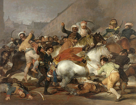 The Second of May 1808: The charge of the Mamelukes of the Imperial Guard in Madrid, by Francisco de Goya El dos de mayo de 1808 en Madrid rdit.jpg