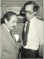 El secretario de Comercio, Ricardo Campero junto al presidente Raúl Alfonsín.png