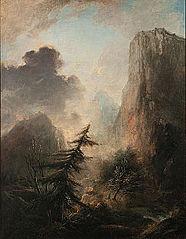 Romantic Landscape with Spruce