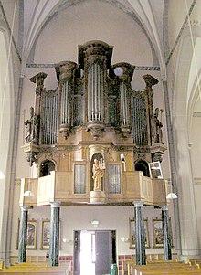 Pipe organ, St. Elisabethskerk in Grave, Netherlands.