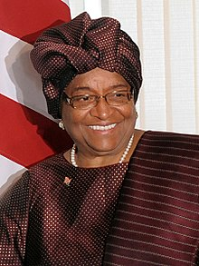 Ellen Johnson Sirleaf en avril 2010.