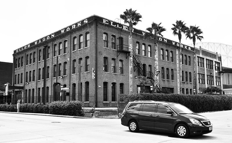 File:Eller Wagon Works Building, 101 Crawford, Houston, Texas 1308231275BW (9608778750).jpg