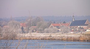 Elst, Utrecht - View of Elst from the other side of the Lower Rhine.