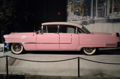 Elvis Presley Pink Cadillac on display