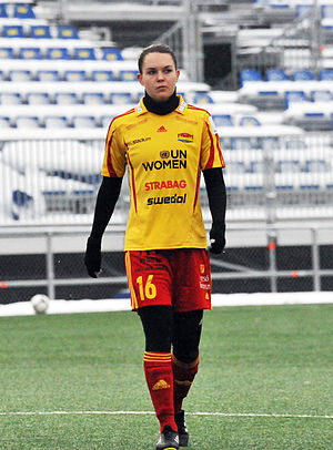 Emilia Appelqvist - Playing for Tyresö in 2013