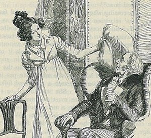 Emma Woodhouse - Emma with her father in an illustration by Hugh Thomson