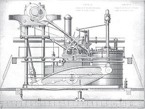 SS California (1848) - Side-lever engine of RMS ''Persia'' (1855)