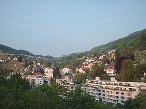 Ennetbaden - Ennetbaden seen from Baden (direction West)