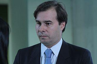President of the Chamber of Deputies (Brazil) - Image: Entrevista do deputado Rodrigo Maia (RJ) 07 11 201 (8164799759)