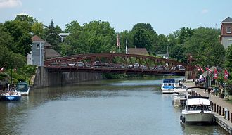 Fairport, New York - Image: Erie Canal Fairport Lift Bridge