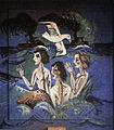Ernst Ludwig Kirchner, 5 von 5 Badeszenen auf Fehmarn, Wandgemaelde Santatorium Dr. Kohnstamm.JPG