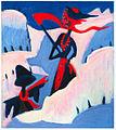 Ernst Ludwig Kirchner - Hexe und Vogelscheuche im Schnee - 1930-32.jpg