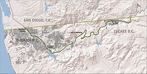 Baja California Railroad - Map