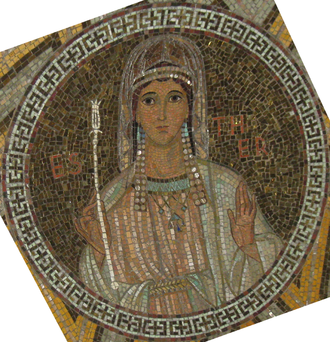 Esther (Handel) - Esther, mosaic from The Dormition Church on Mount Zion in Jerusalem