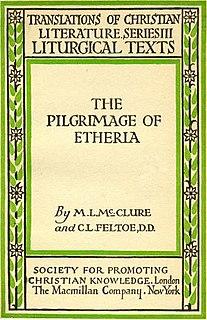 Egeria (pilgrim) writer