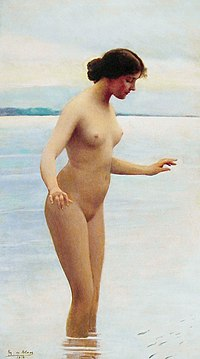 Eugene de Blaas - In the water (1914, derivative work).jpg