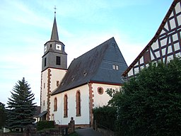 Protestant Church built in 1912 in Burgwald-Ernsthausen, Germany