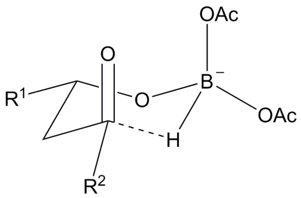 Evanssaksena reduction wikiwand transition state for the evans saksena reduction showing the reason for the observed diastereoselectivity ccuart Images