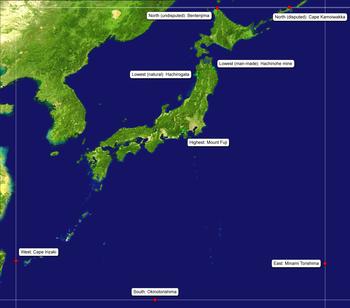 Cartina Del Giappone Politica.Geografia Del Giappone Wikipedia