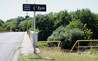 Eyre (river) - The Eyre in Mios.