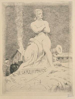 La statue de la Résistance - Image: Félix Bracquemond La statue de la Résistance par Falguière