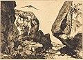 Félix Bracquemond after Jules Laurens, Gorge in the Rocks (Gorge dans les rochers), 1855-1856, NGA 56328.jpg