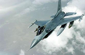 555th Fighter Squadron - Over Iraq, a Squadron F-16C Fighting Falcon peels away from a KC-135 Stratotanker from the 92d Air Refueling Squadron
