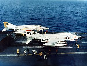 VF-142 - VF-142 and VF-143 F-4Js on USS Constellation, 1969/70.