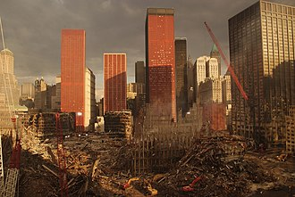 One Liberty Plaza - Image of the World Trade Center site, facing One Liberty Plaza, 17 days after the September 11 attacks.