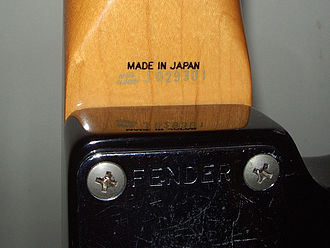 Fender Japan - MADE IN JAPAN serial number