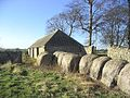 Farm building and bales - geograph.org.uk - 329208.jpg