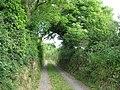 Farm track to Felin Rhosgerrig with public rights of way - geograph.org.uk - 836963.jpg