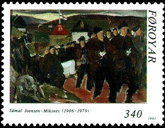 Sámal Joensen-Mikines - Image: Faroe stamp 217 mikines funeral procession