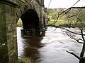Fast flow under the aqueduct on the River Wharfe - geograph.org.uk - 625118.jpg
