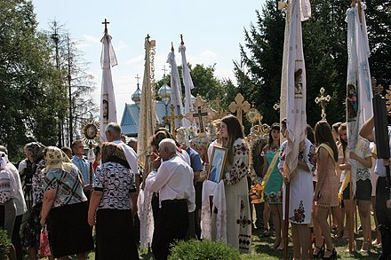 The Feast of the Transfiguration in Ukraine in 2017 Feast of Transfiguration in Spas village 12.jpg