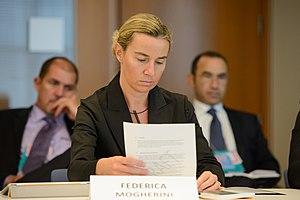 Federica Mogherini - Federica Mogherini representing Italy at the NATO Parliamentary Assembly in 2013.