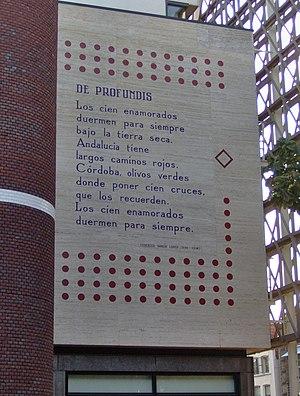 Federico Garcia Lorca - De profundis - Langebrug%2C Leiden