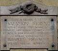 Ferenc Salamon plaque Budapest07.jpg