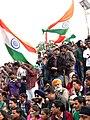 Festive Crowd with Indian Flags at Border-Closing Ceremony - Attari-Wagah India-Pakistan Border - Near Amritsar - Punjab - India (12697626485).jpg