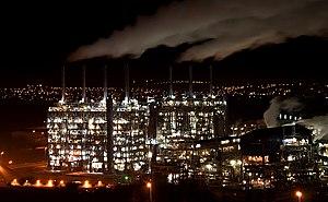 Mossmorran - Fife Ethylene Plant at night in January 2012