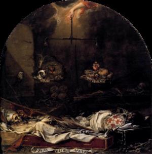 Sic transit gloria mundi - Juan de Valdés Leal, Finis gloriae mundi (1672). Seville, Hospital de la Caridad